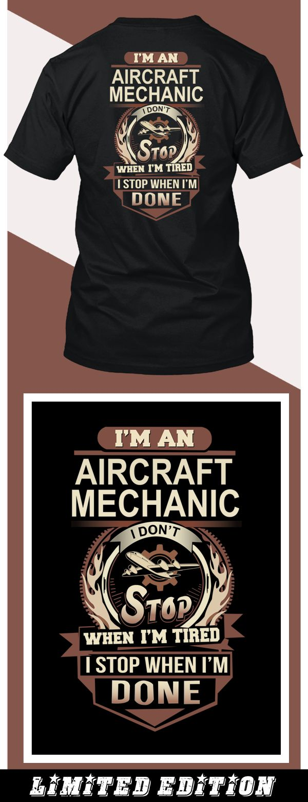 Aircraft Mechanics - Limited edition. Order 2 or more for friends/family & save on shipping! Makes a great gift!