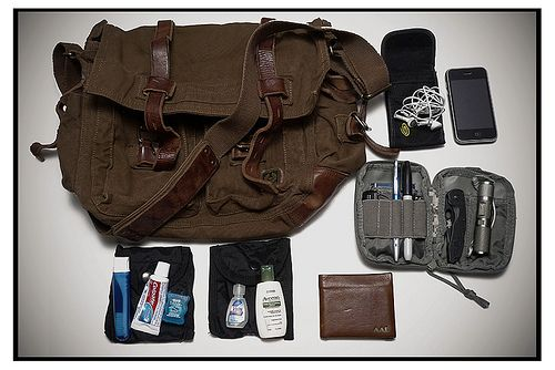 Belstaff Bag - Small pouches for every day items.
