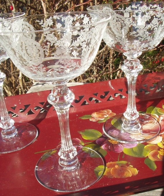 Tiffin June night. Can't you just hear the laughter and clink of these champagne glasses at the party celebrating the end of WWII?