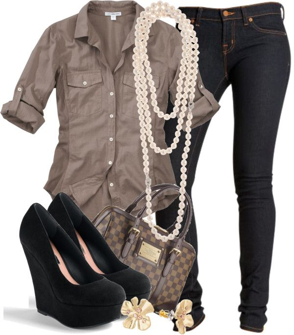 Casual OutfitShoes, Fashion, Casual Friday, Casual Outfit, Style, Pearls, Cute Outfit, Casual Looks, Dates Night