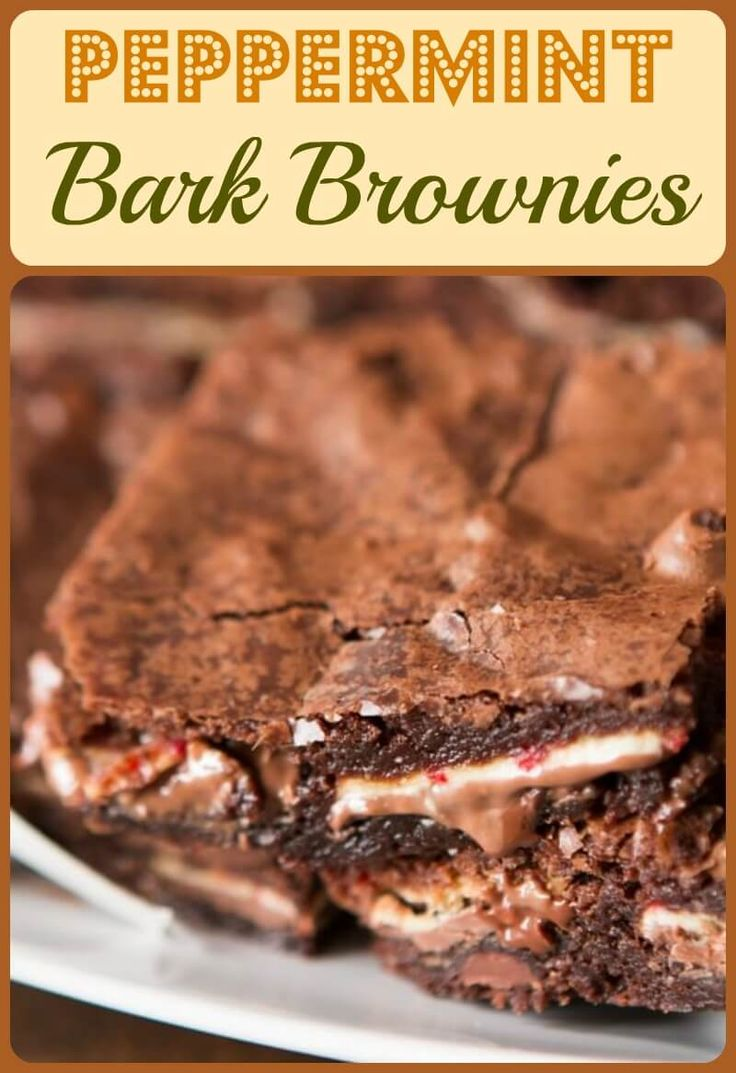 I found this awesome Ghirardelli peppermint bark in full size candy bars versus those little individually wrapped candies and I just had to make a super quick and easy Peppermint Bark Brownies recipe. 2 Ingredients, that's all you need.  ohsweetbasil.com