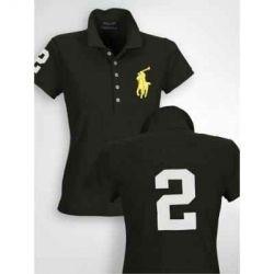 Polo ralph lauren womens big pony black polo pinterest for Black ralph lauren shirt purple horse
