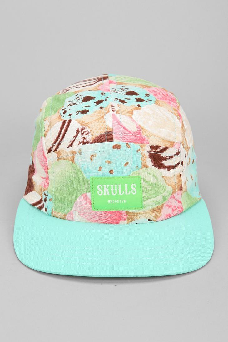 SKULLS Ice Cream 5-Panel Hat #urbanoutfitters