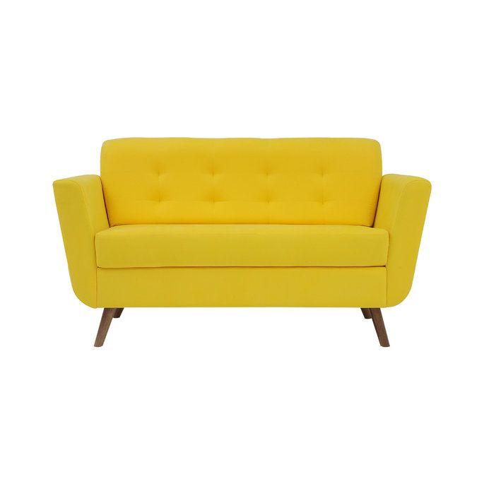 Sofá Charles - Amarelo - 2 lugares