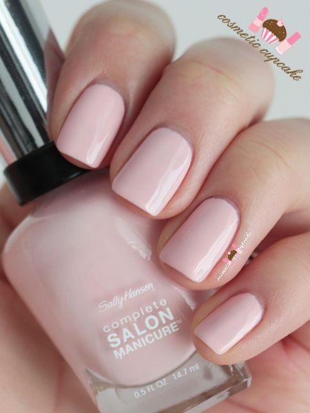 Sally Hansen:  ☆ Pink a Card ☆ ...  a pastel baby PINK creme nail polish. Super soft and the perfect baby pink shade