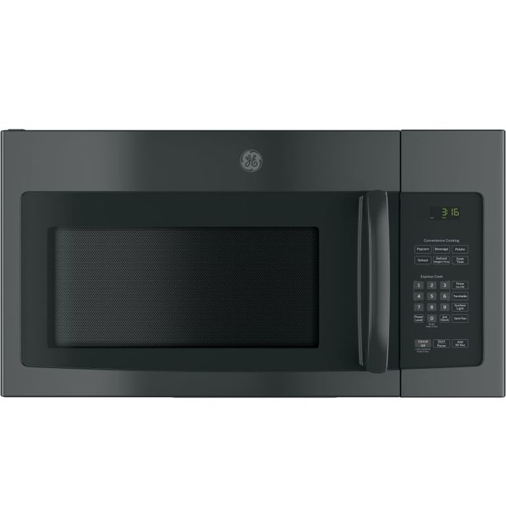 GE JNM3163J 30 Inch Wide 1.6 Cu. Ft. 950 Watt Over the Range Microwave with Two- Black Microwave Ovens Microwave Over-the-Range