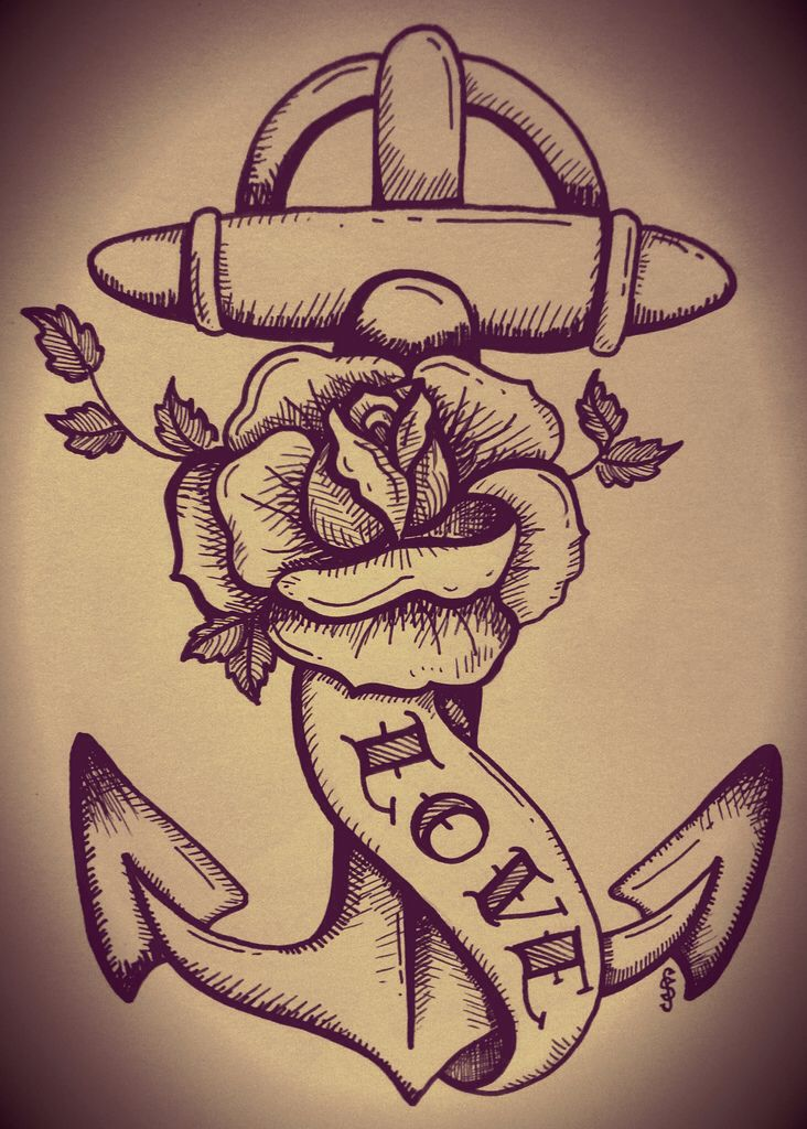 Nautical Tattoo  replace 'love' with 'faith' maybe?