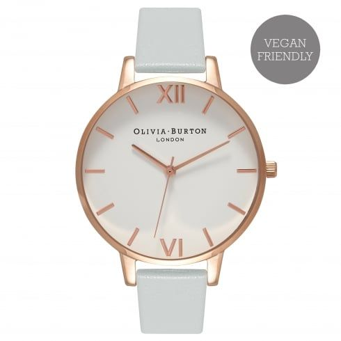 Vegan Friendly Big Dial Grey & Rose Gold -  from Olivia Burton UK