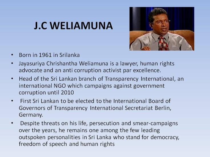 J.C. Weliamuna