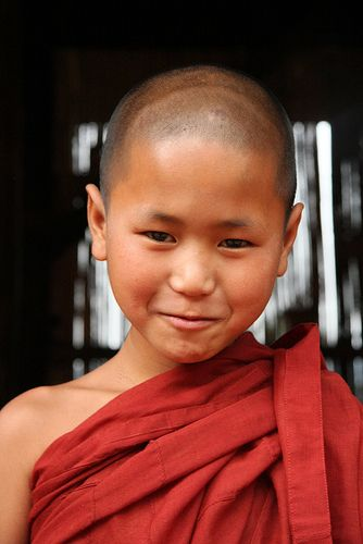 Young Buddhist monk in a traditional village in the area around Kyaukme, Shan state, Myanmar / Burma | Flickr - Photo Sharing!