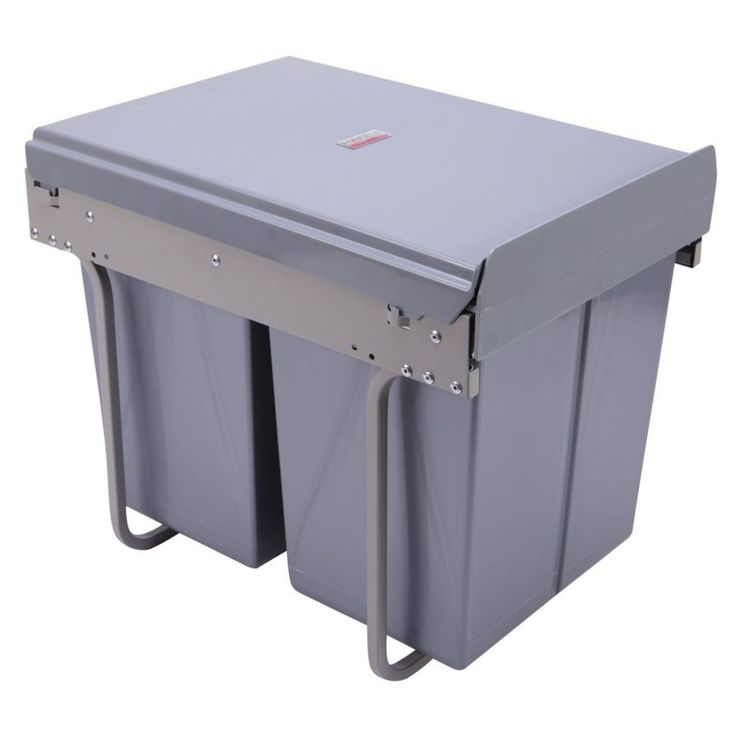 $92.40 - Hafele Home Double Soft Close Pull Out Bin 2x20 litre - Masters Home Improvement