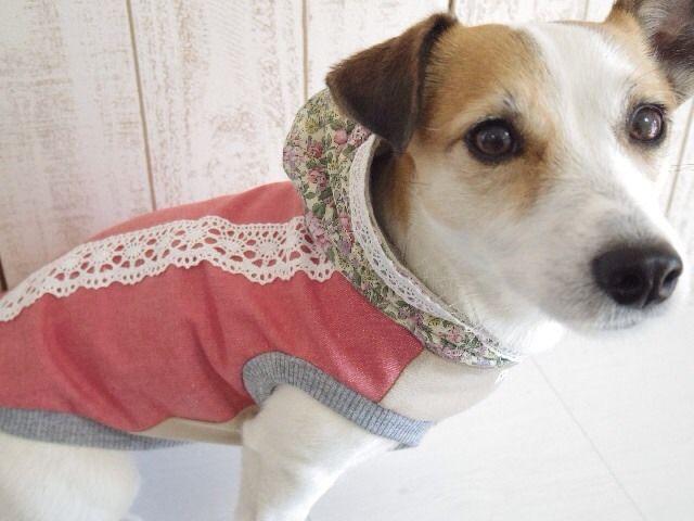 Pink denim with lacy hoodie KOJIRO JRT DOGCLOTHING