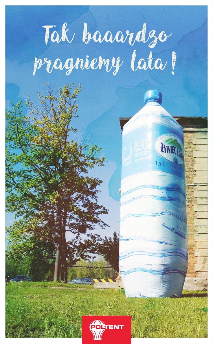 Żywiec Zdrój - oryginalna reklama pneumatyczna butelki wody źródlanej o wysokości 6 metrów! www.poltent.pl #advert #outdoor #commercial