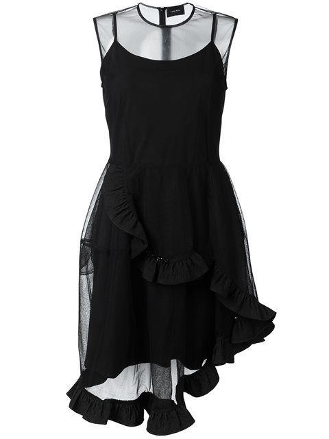 Simone Rocha asymmetric beaded full dress