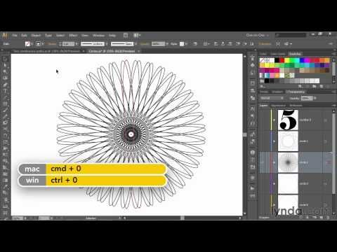 Illustrator tutorial: Creating a continuous, single-line spirograph | lynda.com, Dekes Techniques - YouTube