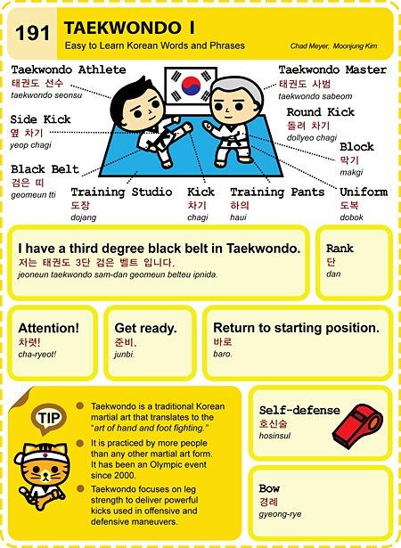 191 Learn Korean Hangul Taekwondo 1