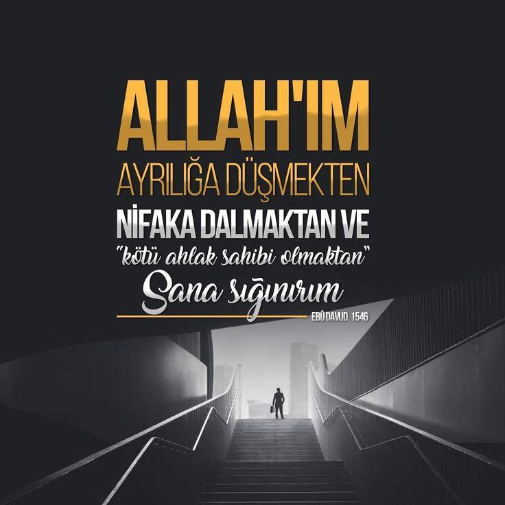 Rabbim sana sığınırım!  #dua  #amin #ayrılık #kötü #ahlak #hadisler #Allah #hadis #ilmisuffa