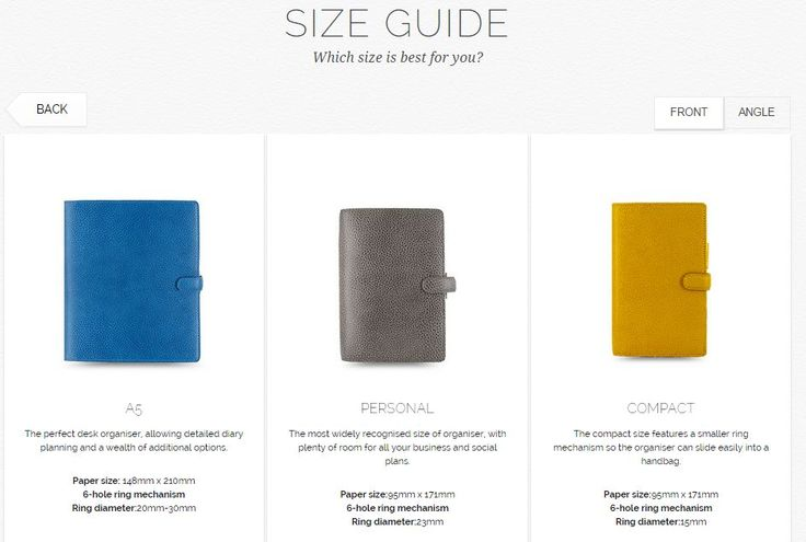 Filofax Size Guide - SIZE GUIDE Which size is best for you ...