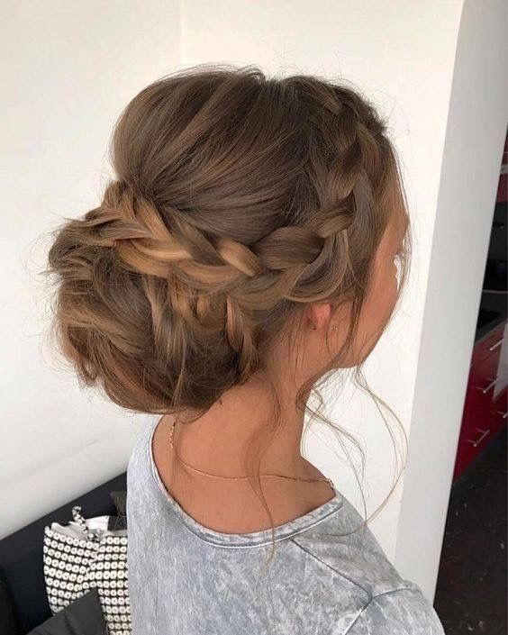 #Bridesmaidshair #updos #braidedbun #braidedupdo #weddinghair #promhair #hairinspo