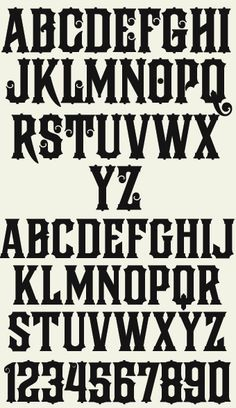 classic font styles - Google Search