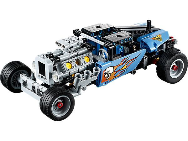 This LEGO Technic Hot Rod is the hottest vehicle on the block!