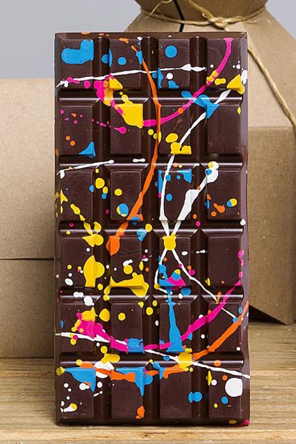 Um, I want this as a painting.   5 Fancy Chocolate Bars That Look As Good As They Taste #refinery29  http://www.refinery29.com/chocolate-bars#slide2