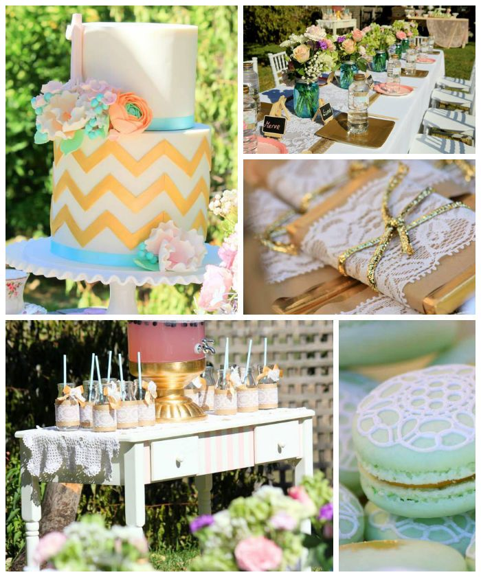 Vintage Rustic Garden 1st Birthday Party