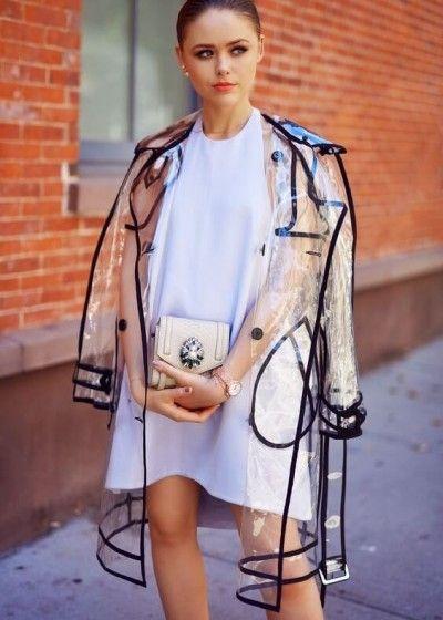 capa de chuva fashion transparente                                                                                                                                                                                 Mais