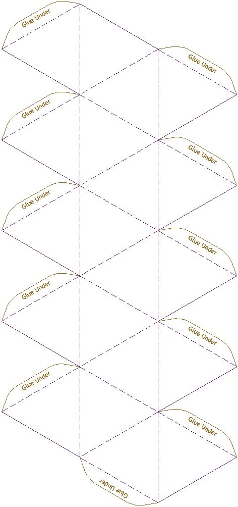 Icosahedron  Model Template