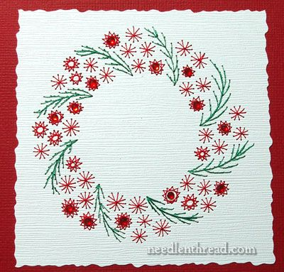 embroider your christmas cards