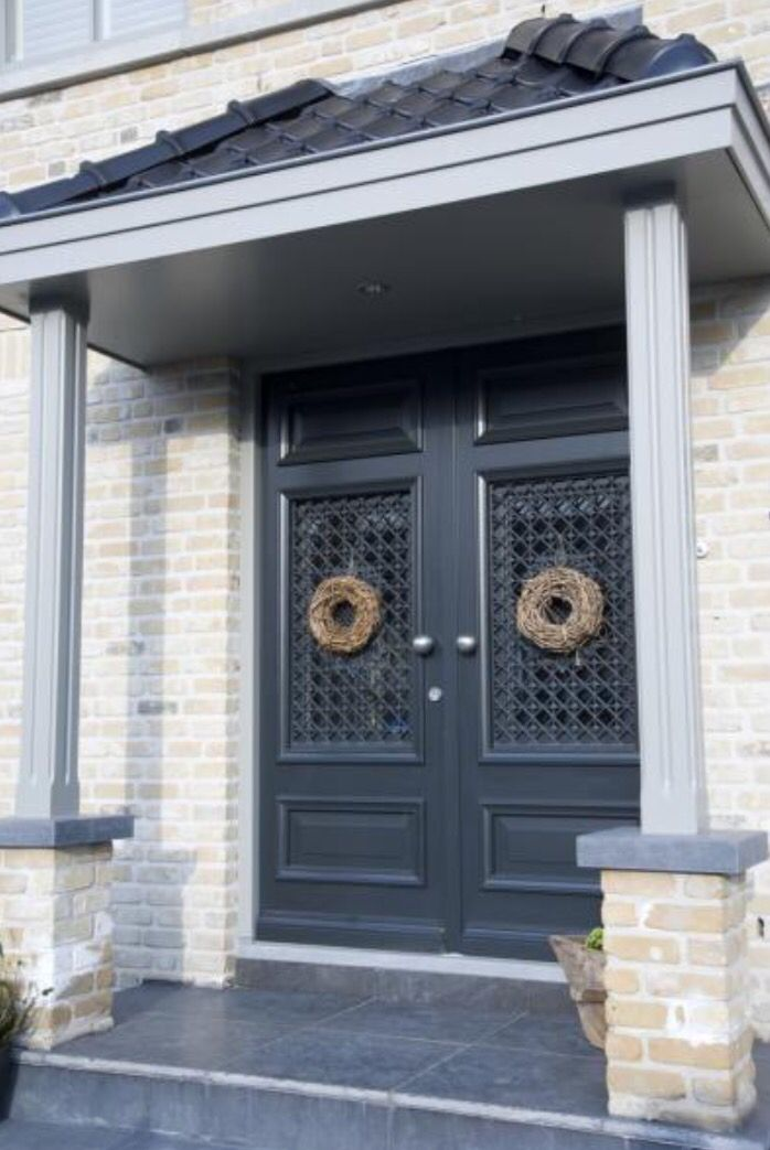 """This double front door is from our feature """"A Winters Tale"""""""