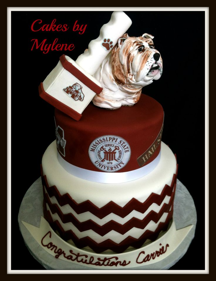 """Mississippi State University Bulldog and Bell Please visit and """"like"""" my Facebook PAGE www.facebook.com/CakesByMylene OR website: www.cakesbymylene.shutterfly.com"""
