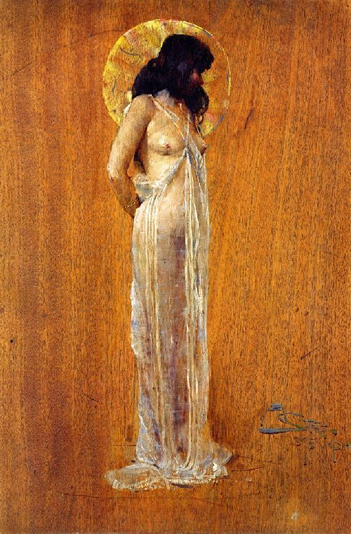 Scheherazade : Oil painting by Sir Arthur Streeton ...BTW,Please Check this out: http://artcaffeine.imobileappsys.com