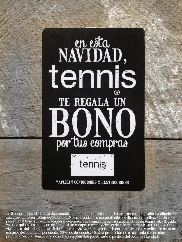 Tarjeta Bono Navidad 2012 www.tennis.com.co