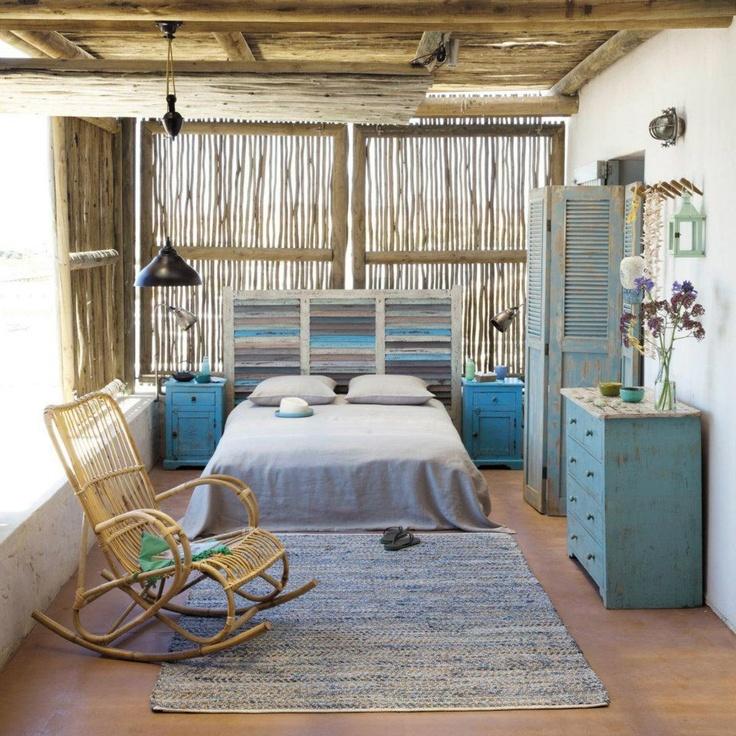 Seaside bedroom  by Maisons du Monde. 17 Best ideas about Seaside Bedroom on Pinterest   White rustic