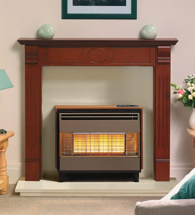 Wall Mounted Fires | Robinson Willey Firegem Visa Deluxe Outset Gas Fire…