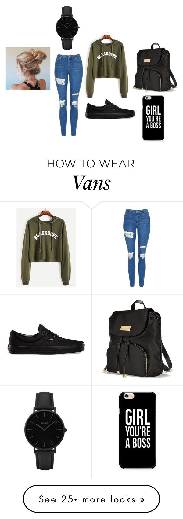 """""""⌚"""" by bianca-salazar97 on Polyvore featuring Topshop, Vans, Victoria's Secret and CLUSE"""
