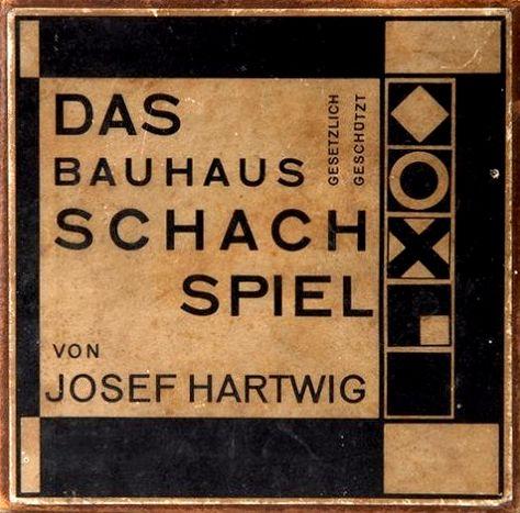 Bauhaus chess set designer Josef Hartwig