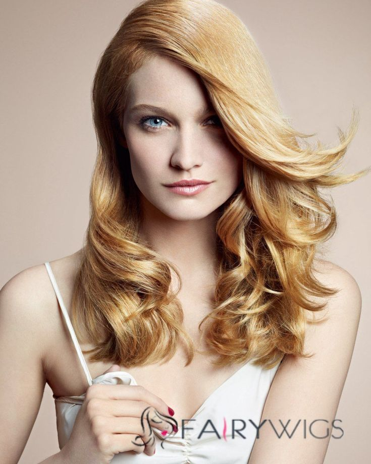Vogue Wig Full Lace Medium Wavy Blonde Remy Hair Wig : fairywigs.com