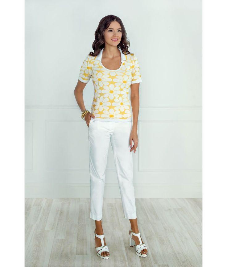 Женская блузка Andovers из вязаного трикотажа. Стильная приталенная модель с небольшим рукавом и модным дизайном!