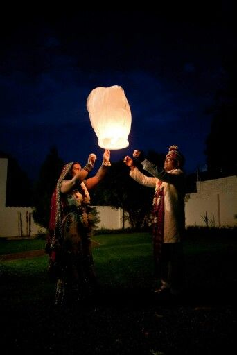 At the end of the evening we released sky lanterns for a new beginning