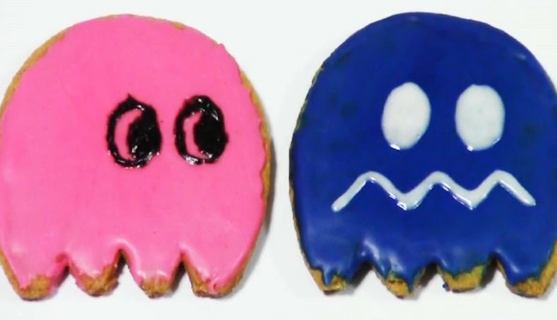 Halloween: Pacman Ghost Cookies