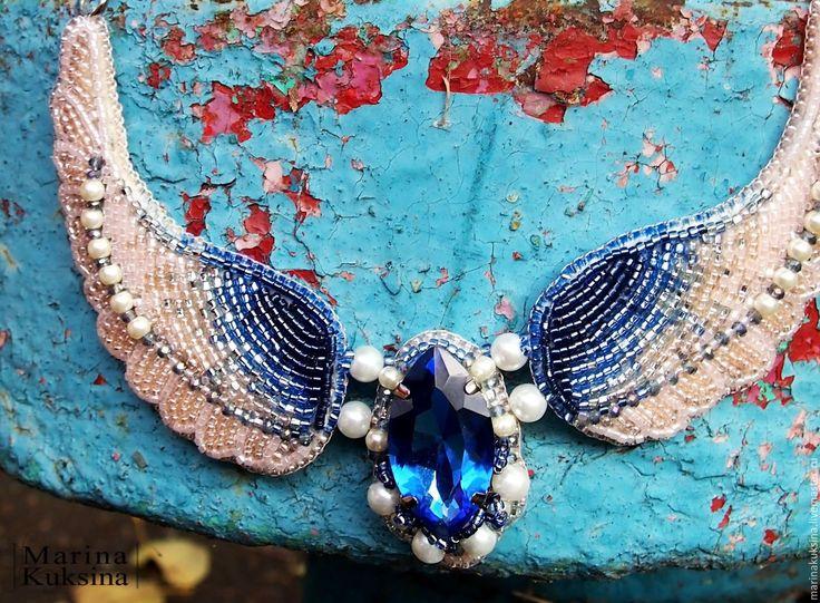 """Купить Колье """"Ангельские Крылья"""" - ангел, крылья, украшение крылья, украшение на шею, красивый подарок"""