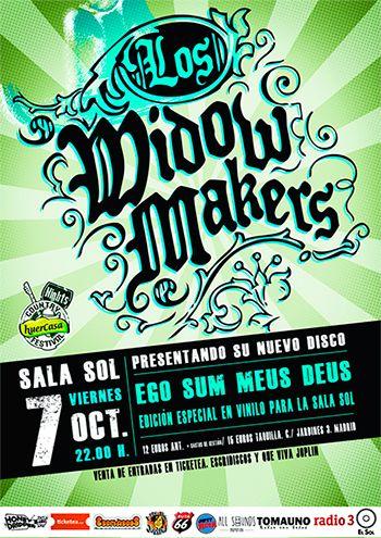 Huercasa Country Night: Los Widow Makers en la Sala Sol el próximo 7 de Octubre.