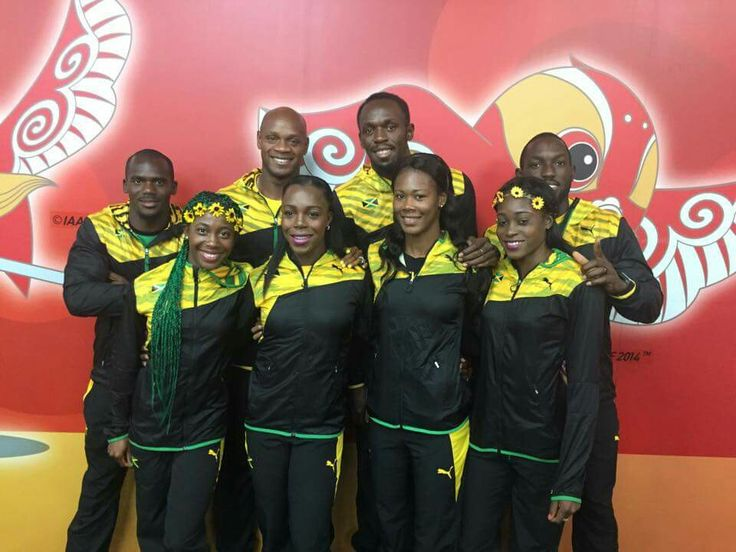 Jamaica 4x100 in gold medal - Beijing 2015
