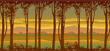 Craftsman Style Friezes   Landscape Wallpapers   Bradbury & Bradbury