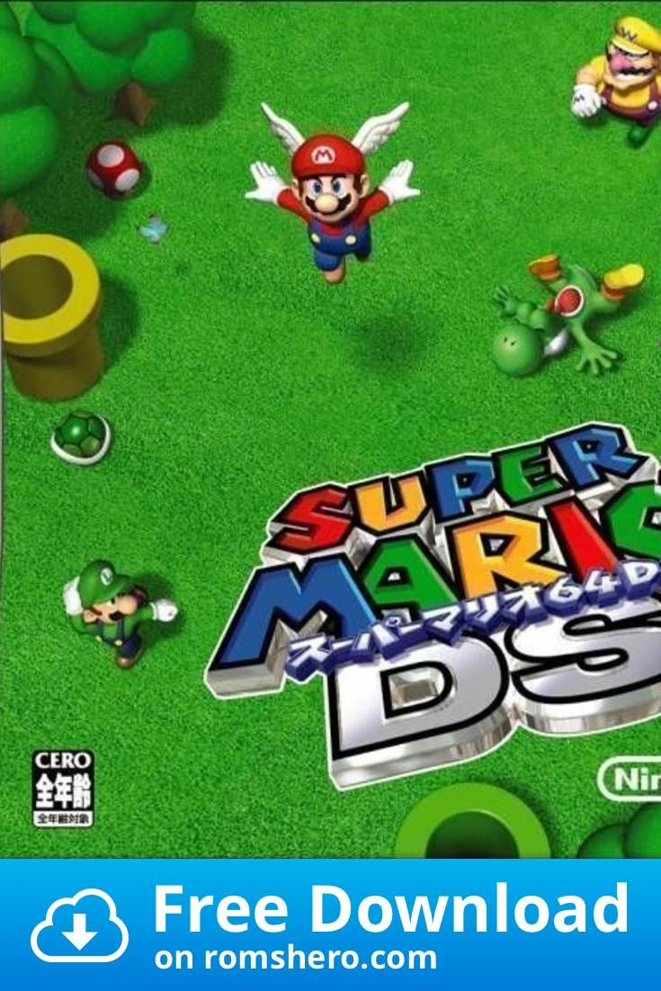 Download Super Mario 64 Ds V01 Nintendo Ds Nds Rom Nintendo Ds Super Mario Mario