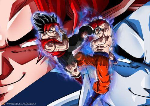 OC : Dede VS Goku UI by Maniaxoi | Uni 13 | Dragon ball z, Dragon