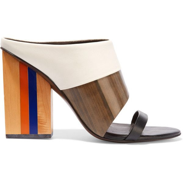 Shop on-sale Tory Burch Mika smooth and printed leather sandals. Browse  other discount designer Sandals & more on The Most Fashionable Fashion  Outlet, THE ...