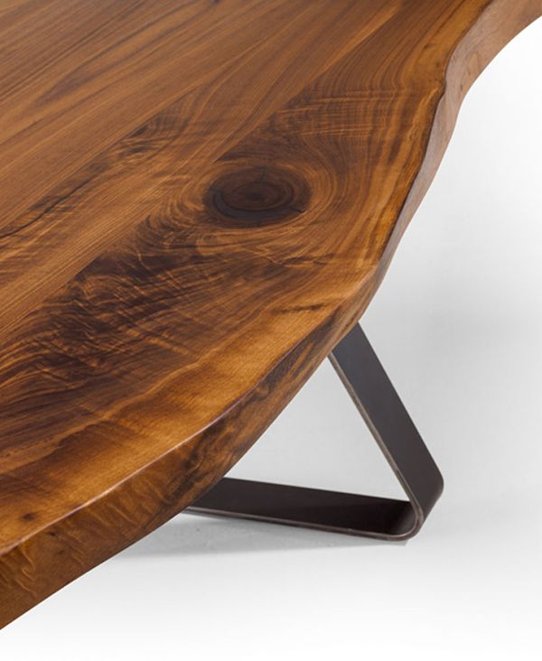 Die besten 25+ Baumkantentisch Ideen auf Pinterest Tischgestelle - moderne massivholz esstische